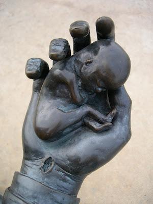 abortion exhibit at Groom Cross baby