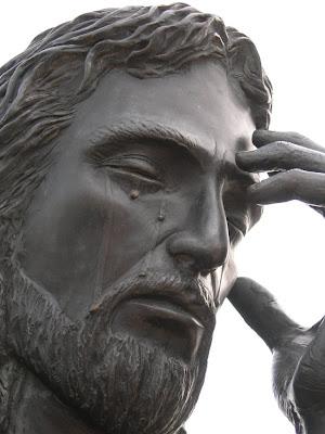 abortion exhibit at Groom Cross Jesus weeps