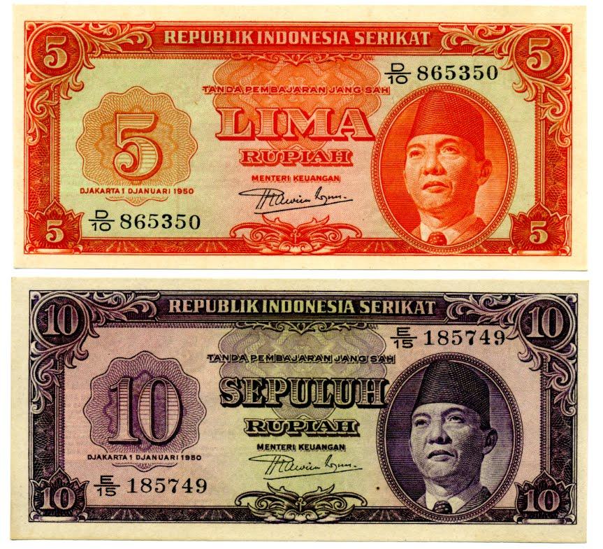 Uang Kuno: 23. Uang Kertas Republik Indonesia