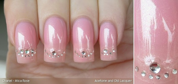 Acetone And Old Lacquer Chanel Mica Rose Amp French Tip Nail Art Stickers