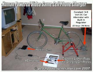 D I Y Energy Human Powered Charger Bike Generators