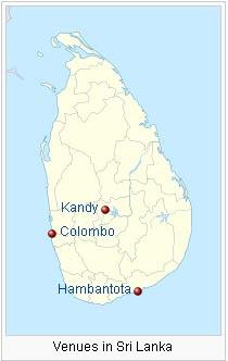 Sri Lanka host 12 ODI match in ICC world cup 2011 venues information