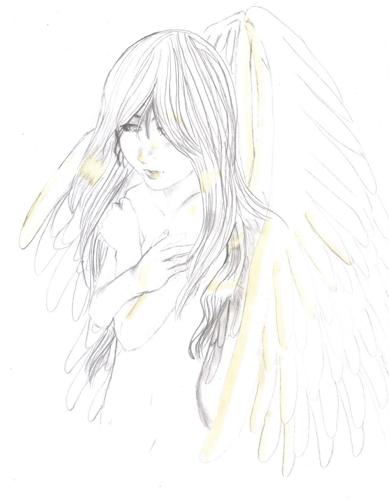 More sketches and drawings pencil drawing of an angel