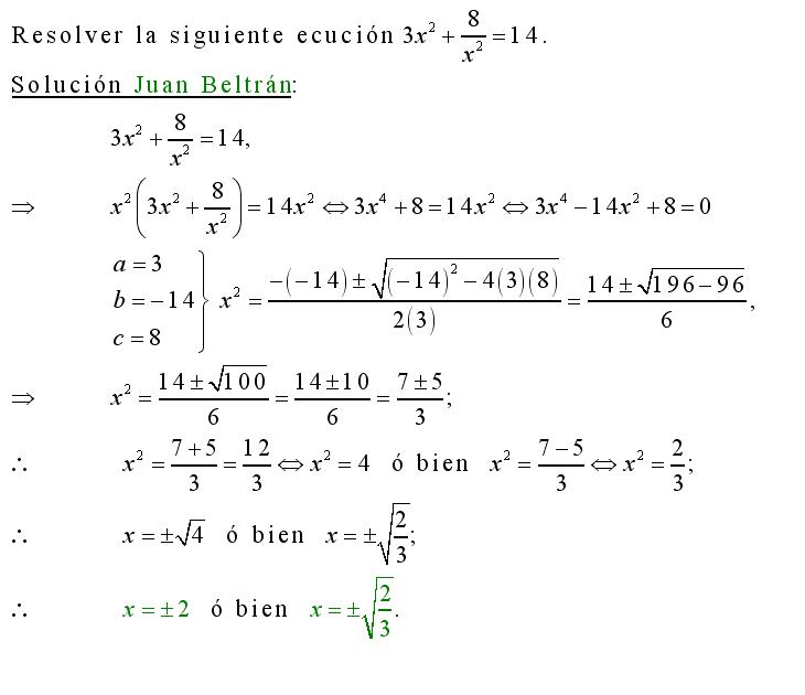 Cálculo21: Ecuación de cuarto grado