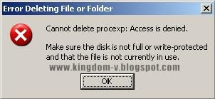 How To Remove Error Deleting File or Folder