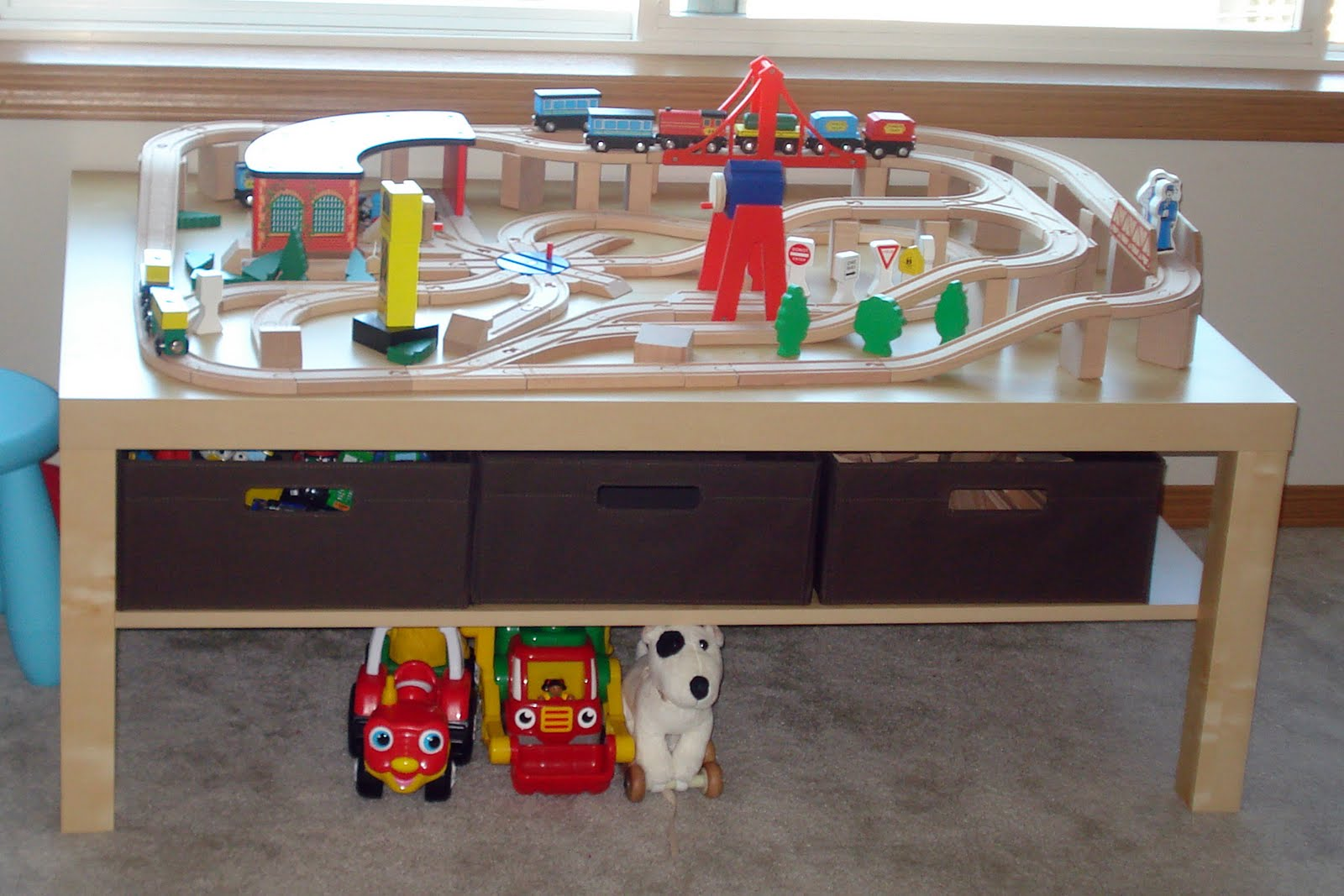 Train Table With Train Set & Kidkraft Wooden Train Table ...