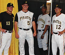 1a028339048 The 2010 Pirates have no shortage of uniform options... and they are all  good solid traditional uniforms. The black and gold with the old fashioned  ...