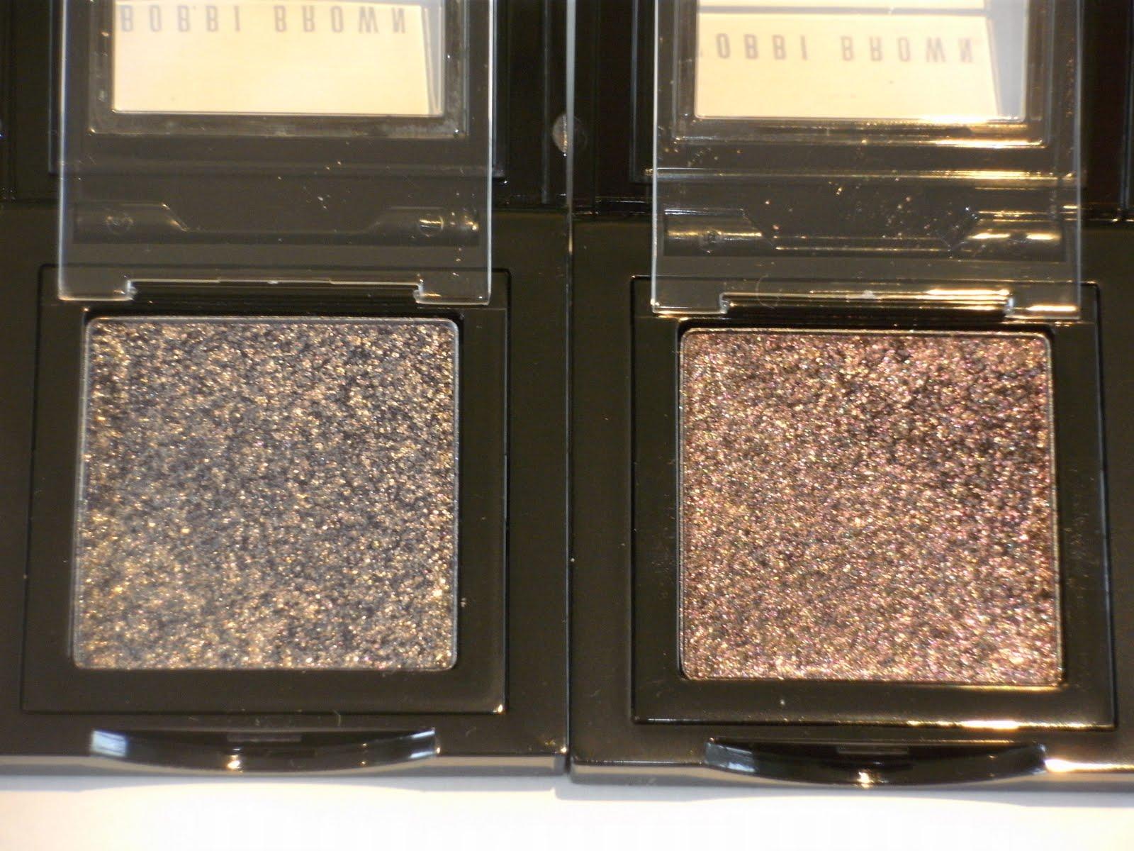 Pleasureflush Bobbi Brown Sparkle Eyeshadows Vs Laura Mercier