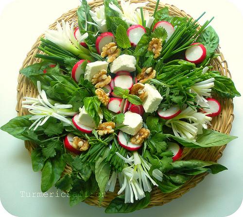 Iranian Herb Platter