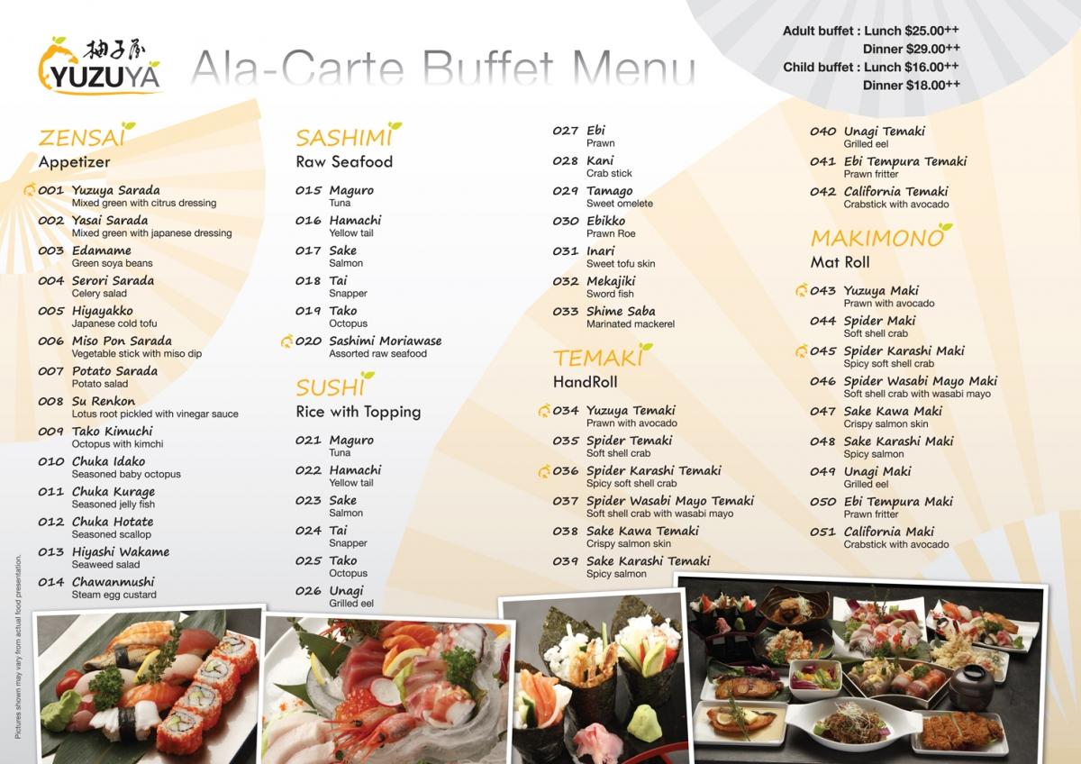 dinner buffet menu ideas