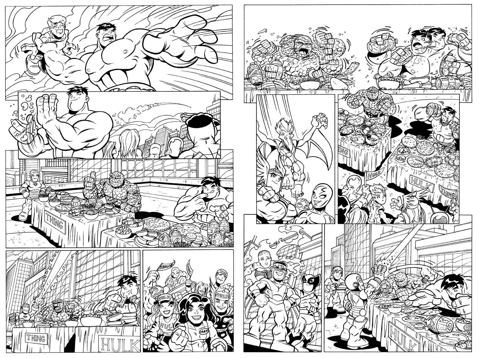 Super Hero Super Hero Squad Coloring Pages