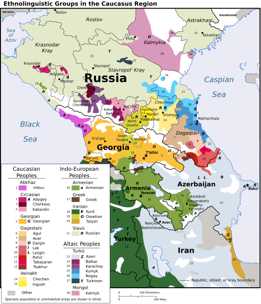 Georgia Russia Map