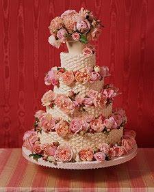 Summer Garden Rose Cake Via Martha Stewart Weddings