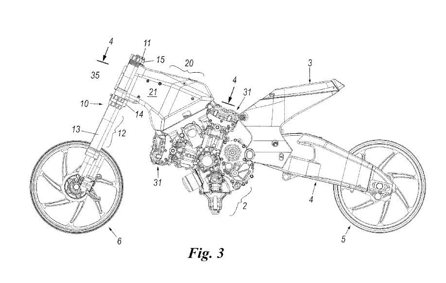 bikeblolocks: Ducati patenteia moto sem quadro.