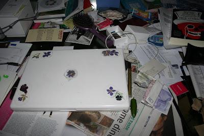 Laptop and chili pepper on MsMarmitelover's desk
