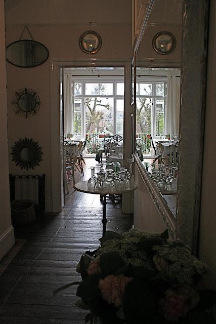 View from the hallway in the Underground Restaurant