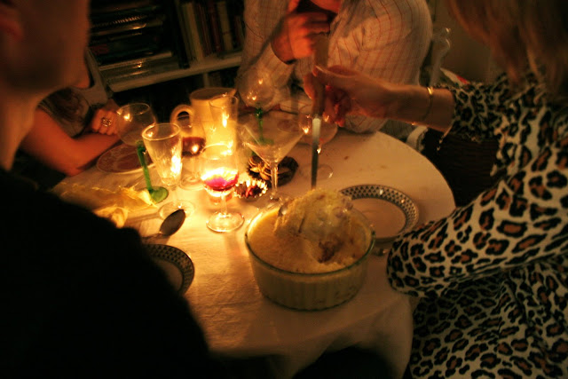 trifle on the table, The Underground Restaurant, msmarmitelover's supper club, London