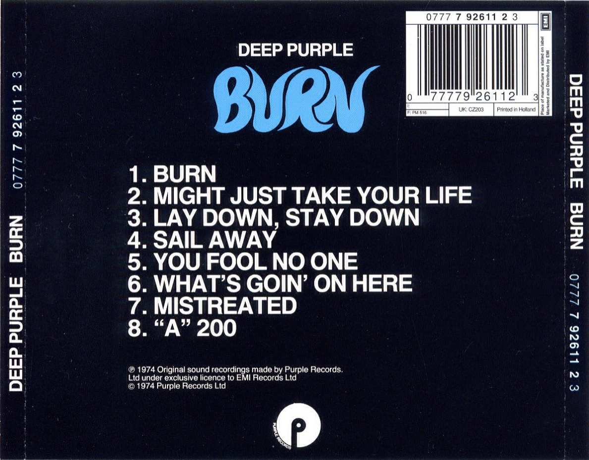 Musicotherapia Deep Purple Burn 1974