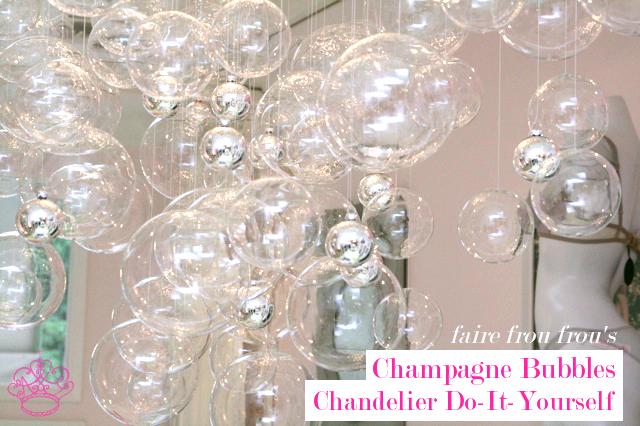 Bubble chandelier diy frou frou fashionista luxury lingerie blog bubble chandelier diy aloadofball Image collections