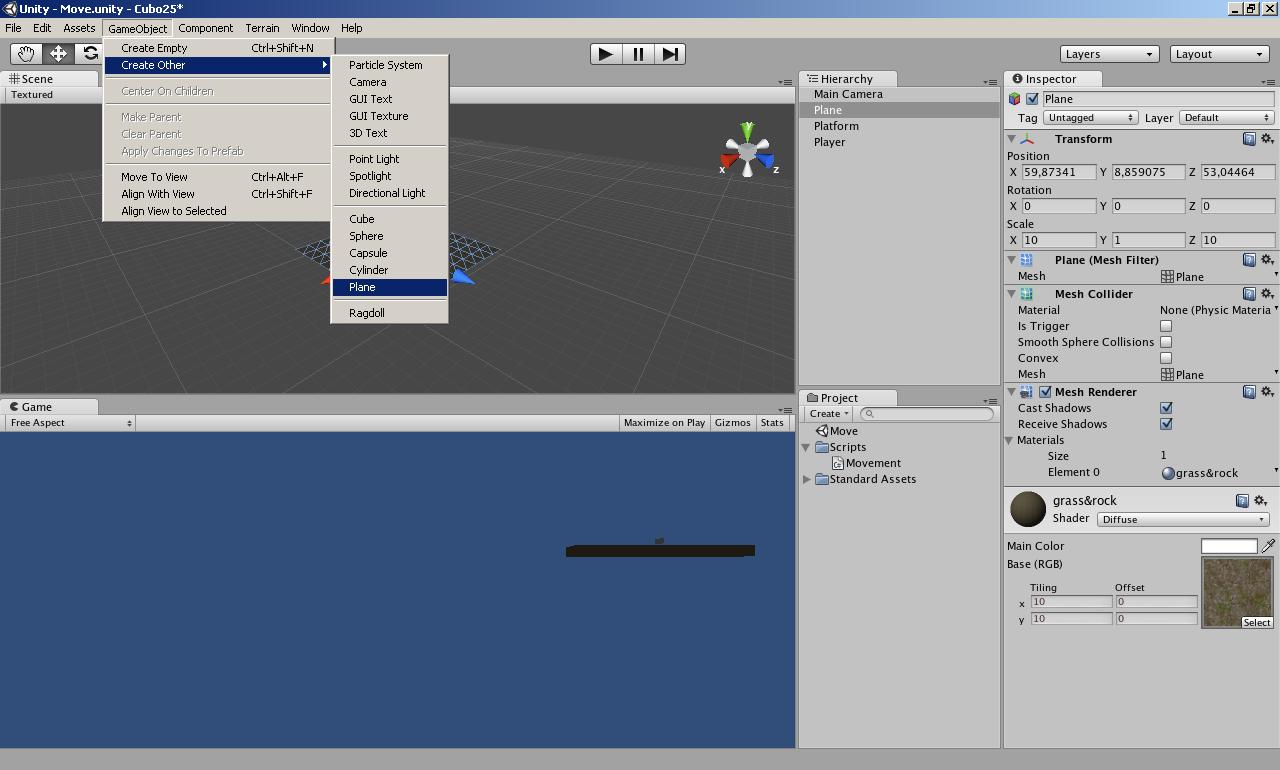 Games: Handling of character for games in 2 5D with Unity3D