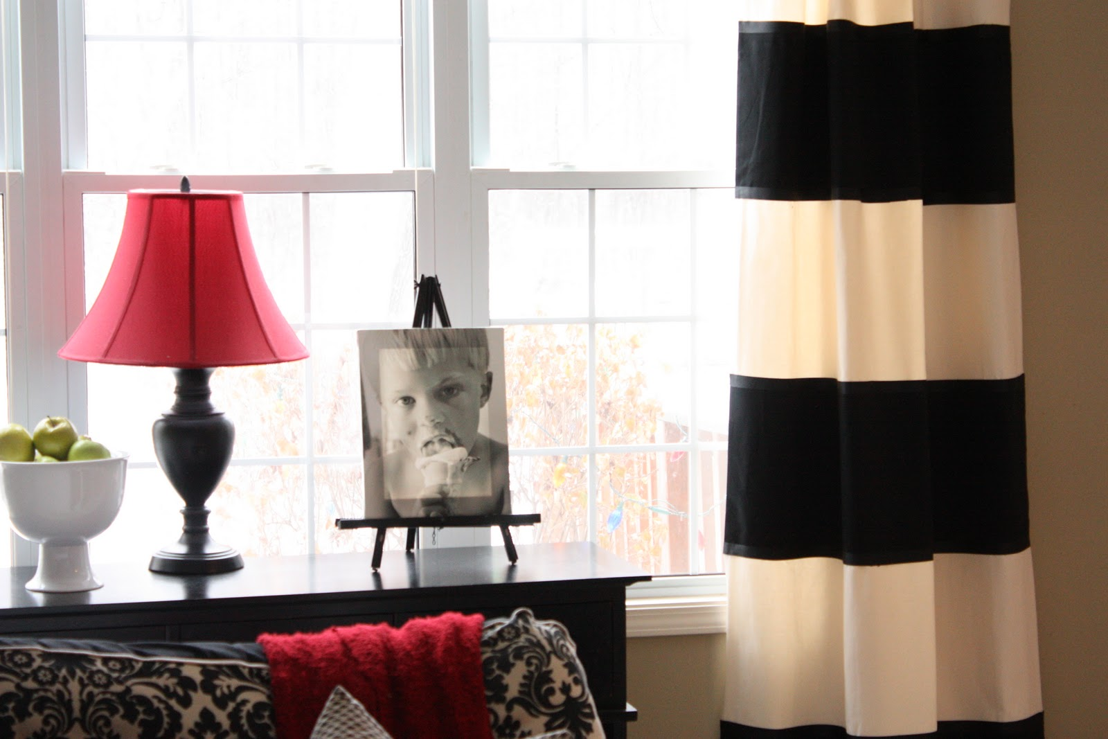 Black Stripe Curtains The Yellow Cape Cod Diy Striped Drapes
