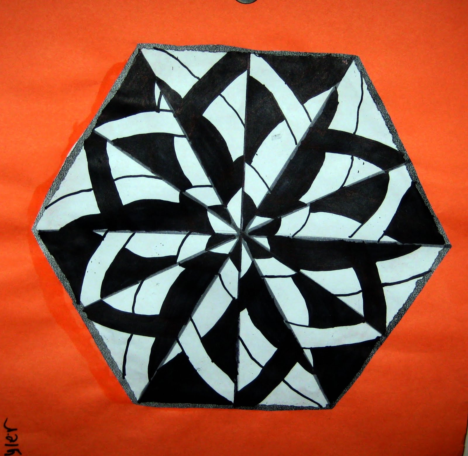 Mrs Art Teacher Positive Negative Space Radial Desgins