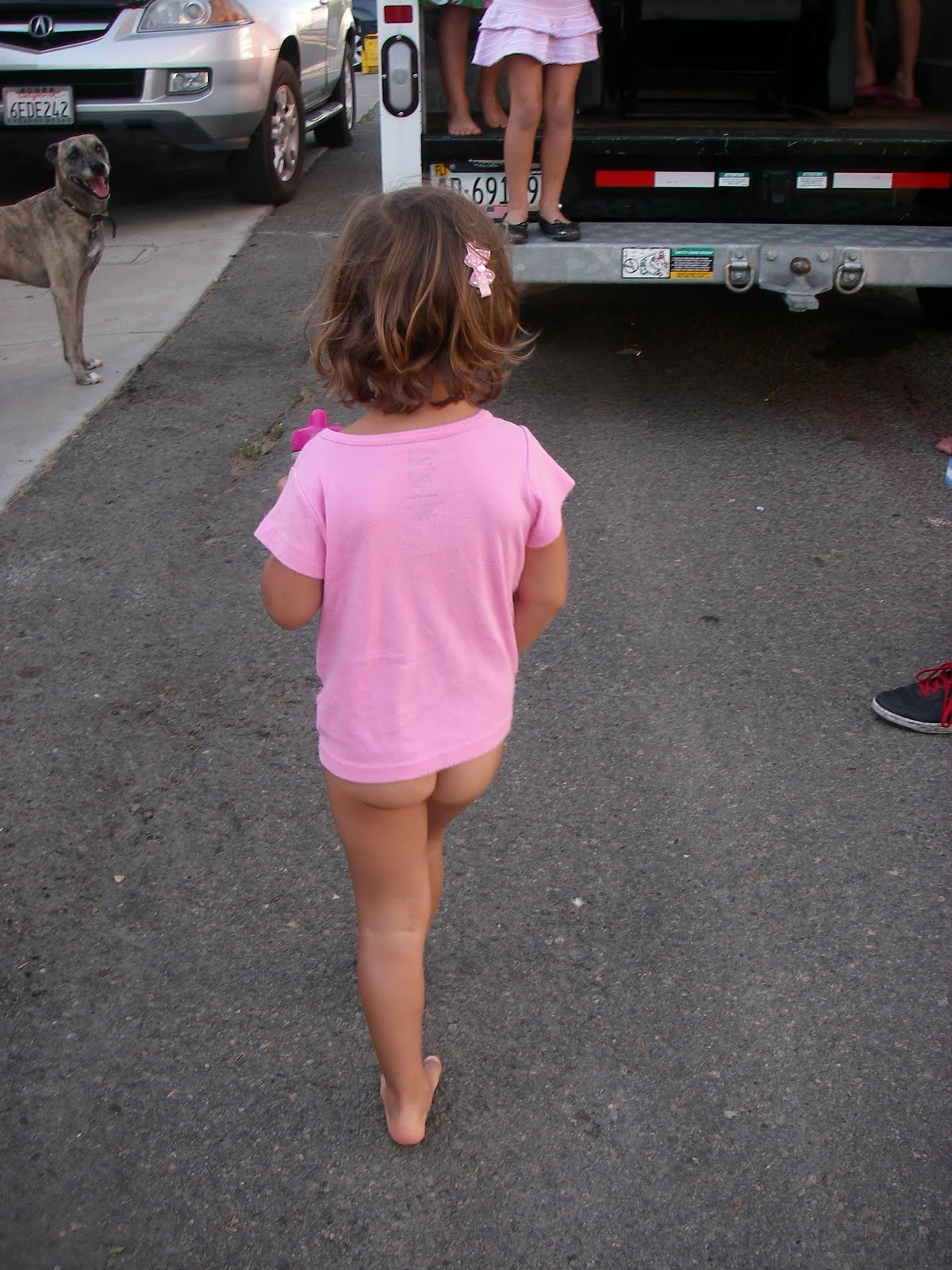 Little girl bare butt — 9