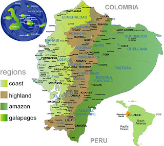 A geographical overview of ecuador a developing country in south america