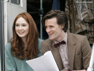 Doctor Who actors Matt Smith and Karen Gillan