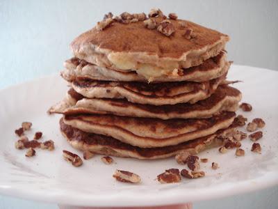 Banana Pecan Pancakes I One Lovely Life
