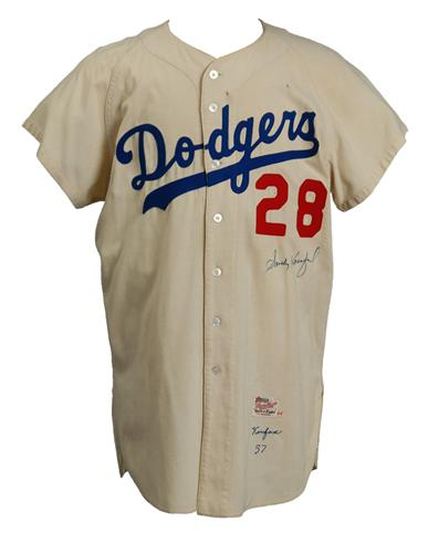 Dodgerbobble  Koufax Jersey Sells For  80 3cc22aba00b
