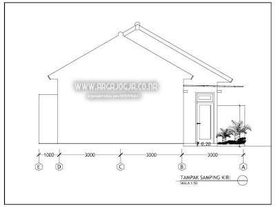 Gambar Kerja Rumah 1 Lantai Pdf Sekitar Rumah