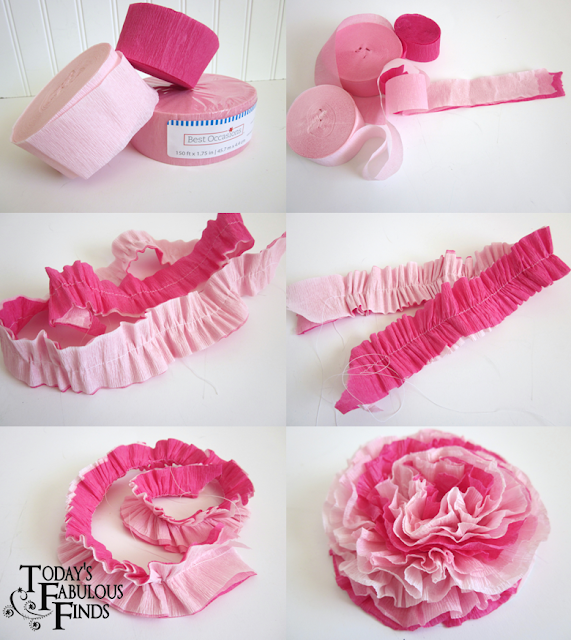 Todays Fabulous Finds Crepe Paper Flowers And Girls Valentine Boxes
