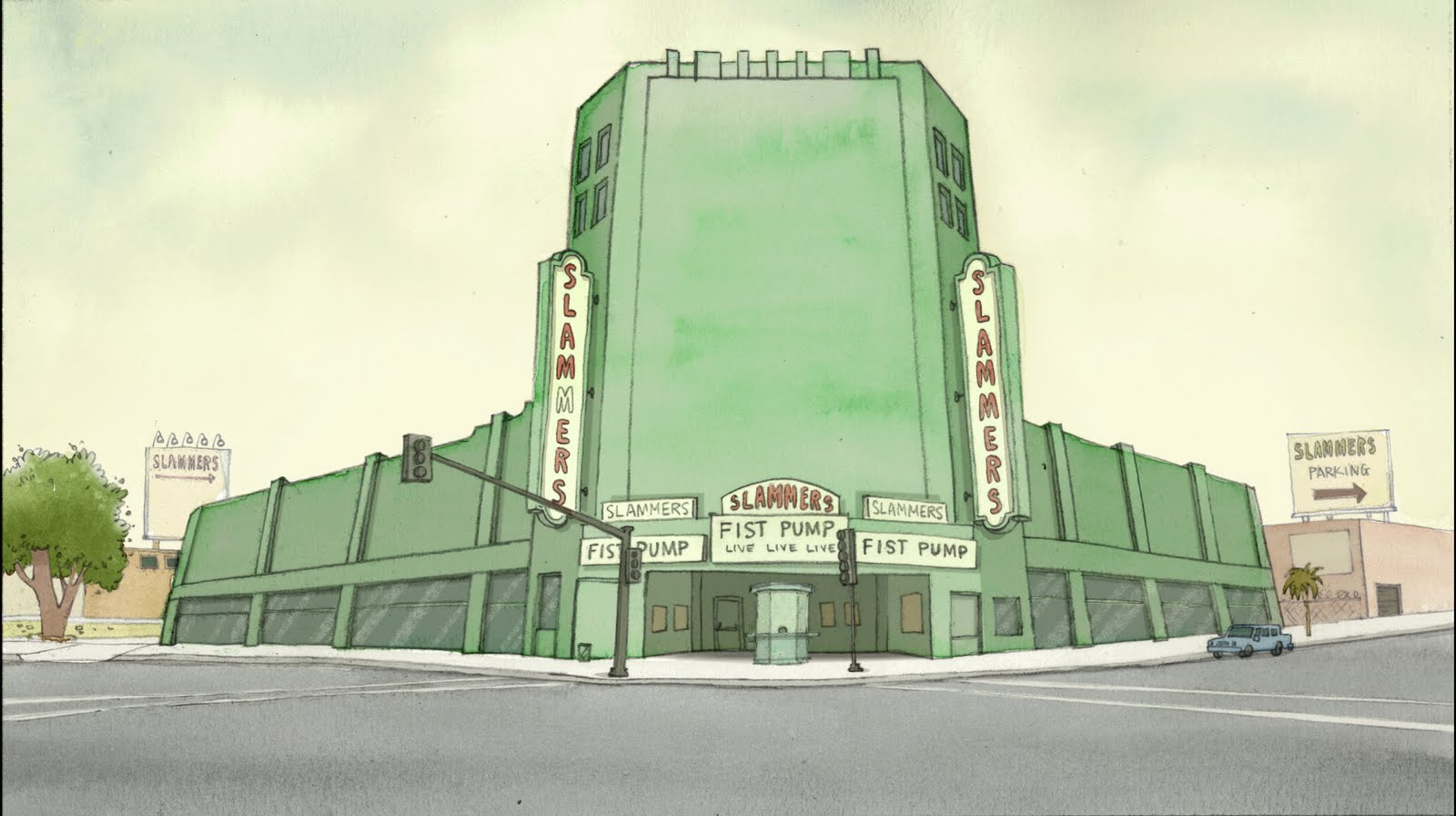 Craig Simmons Design The Regular Show Background Color
