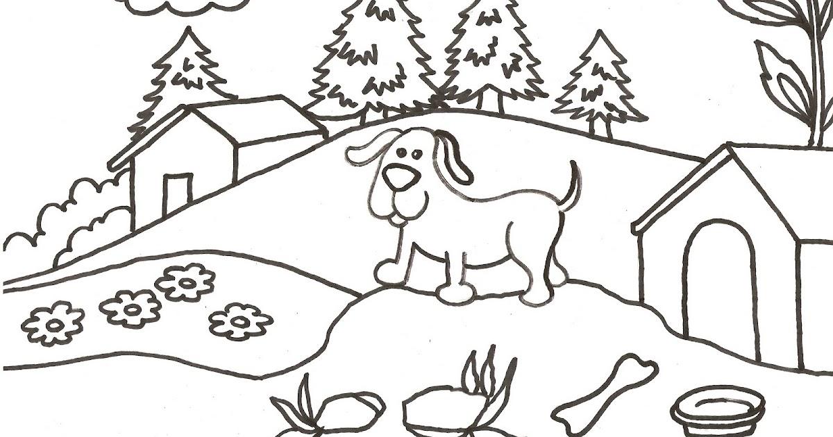 Dibujos Infantiles De Perros Para Colorear: Dibujos Para Colorear Para Niños O Infantiles, Son Láminas