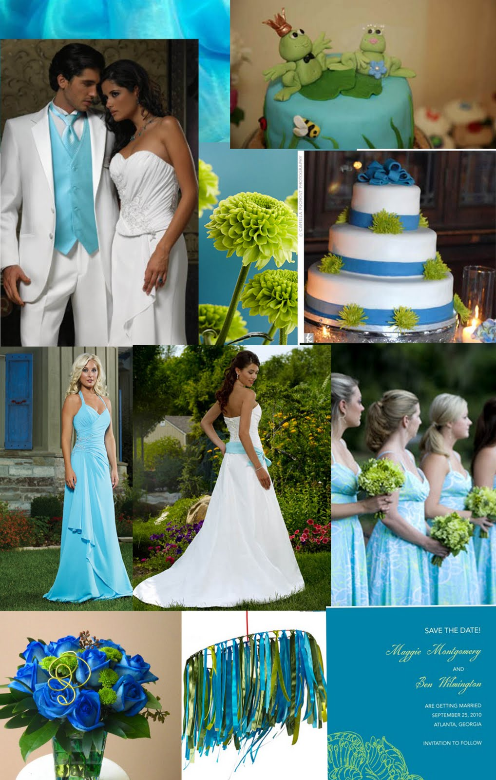 Blue And Green Dining Room: Weddingzilla: Blue Green Turquoise Wedding Inspiration Board