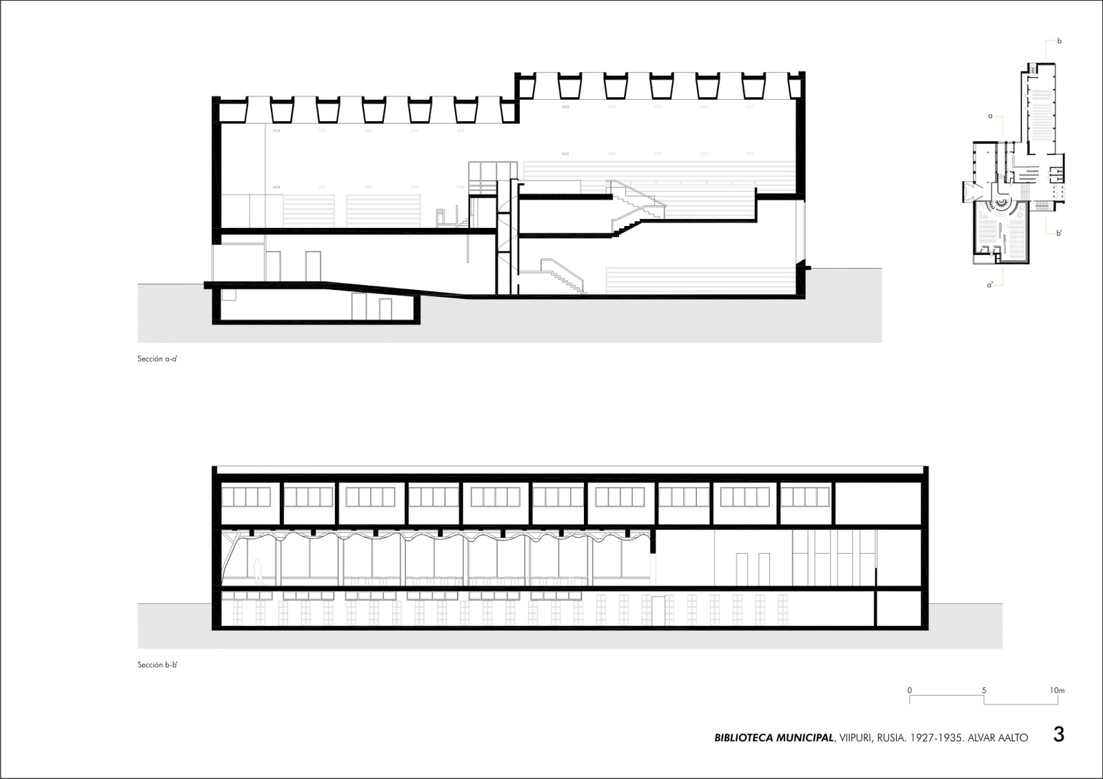 Secci 243 N De La Biblioteca De Viipuri Alvar Aalto