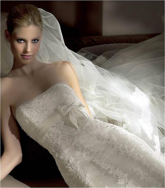 Vestidos de noiva com Laço
