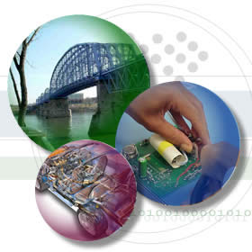technology clip art of electronics and construction