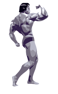 Arnold the muscle man's clip art image