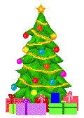 Clipart with presents under the Christmas tree