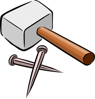 Nail and hammer clipart pictures