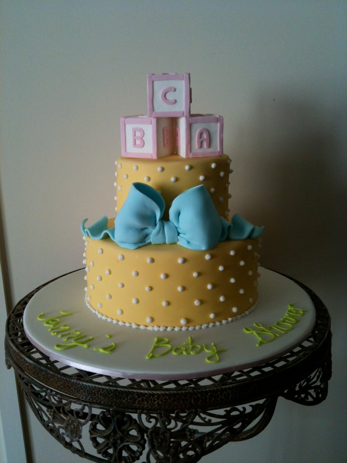 Cake And Clothes Jenny S Baby Shower Cake