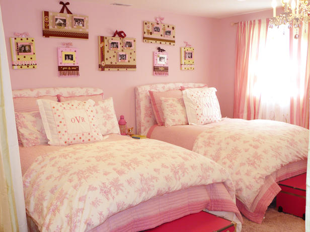 Pretty Shared Bedroom Designs For Girls: Shared Girls' Bedrooms