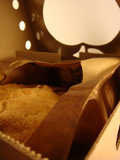 salt and chocolate apple pie baked in a brown paper bag