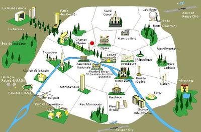 kart over severdigheter i paris Randi's tanker om reiser og hverdagen: Paris kart over severdigheter i paris