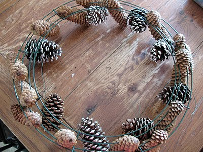 Black Pine Cone Wreath Crafts By Amanda