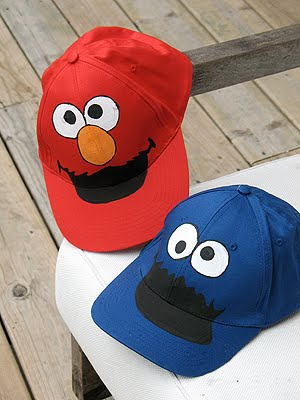 7f82225fd3be5 Cookie Monster and Elmo Hats - Crafts by Amanda