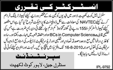 Job Opportunities in Police Department Lahore - Daily Pak Jobs
