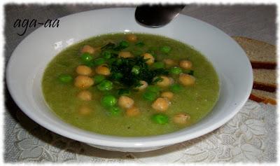 zupa z ciecierzycy i groszku